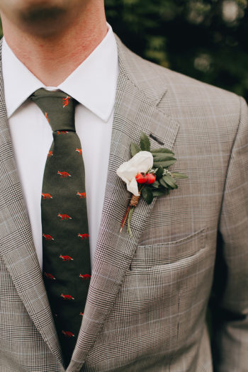 Gray And Orange Wedding Details