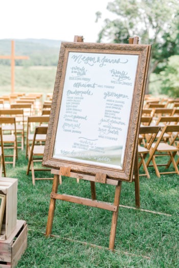 Mirror Wedding Signs
