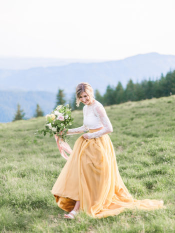 Mustard Yellow Wedding Skirts