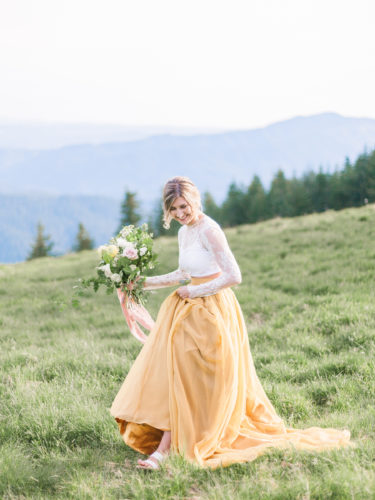Mustard Yellow Wedding Skirts