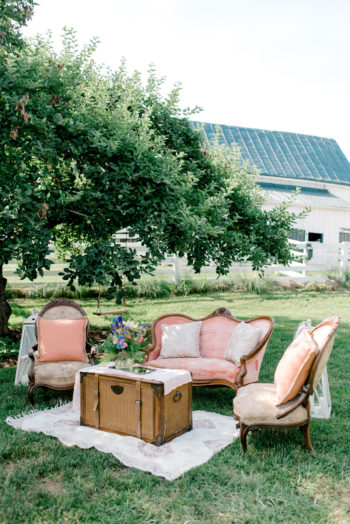 Peach Wedding Lounge