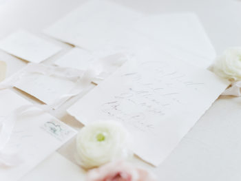 Simple White Wedding Invitations