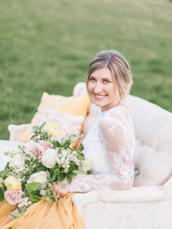 Vibrant And Summery Hillside Bridal Session29