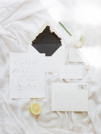 White And Gray Wedding Invitations